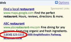 Google เพิ่มบริการโฆษณา Click-to-Call