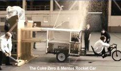 """การทดลองรถจรวด""""โค้กซีโร่+เมนทอส"""""""