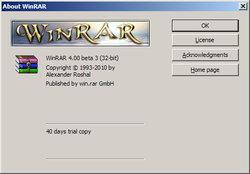 WinRAR 4.00 Beta 3