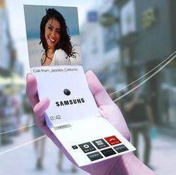Samsung เผยต้นแบบสมาร์ทโฟนพับเก็บได้ เปิดตัวปี 2015