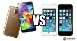 เปรียบเทียบสเปค Samsung Galaxy S5 vs iPhone 5S