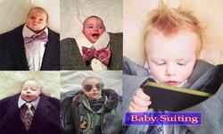 """จับลูกน้อยถ่ายรูปขึ้น IG กับเทรนด์ใหม่ """"Baby Suiting"""""""