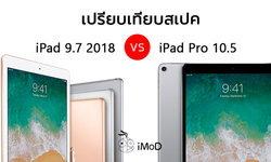 เปรียบเทียบสเปก iPad 9.7 นิ้ว 2018 กับ iPad Pro 10.5 นิ้ว 2017