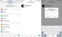 มาแล้วFacebook Messenger เปิดให้เล่นหลาย account บน iOS ได้แล้ว