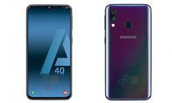 ภาพหลุด Samsung Galaxy A40 รุ่นกลาง, จอไร้ขอบ Infinity-U และกล้องหลังคู่