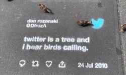 Twitter กับโฆษณาใหม่พ่นสีลายฉลุบนทางเท้าในซานฟรานซิสโกจนเจ้าหน้าที่ออกมาเตือน