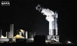 ต้นแบบ SpaceX Starship SN4 ผ่านการทดสอบแรงดันสูงพร้อมทดสอบติดเครื่องยนต์ Raptor