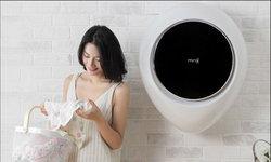 """""""Xiaomi"""" ไอเดียเก๋เปิดตัวเครื่องซักผ้าติดผนังทรงหยดน้ำประหยัดพื้นที่สุดๆ"""