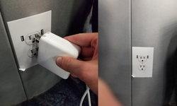 สงสัยว่าง! สติกเกอร์รูปลั๊กปลอมกำลังระบาดตามสนามบิน