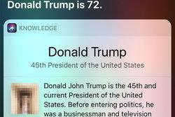 Siri คิดว่า Donald Trump คืออวัยวะเพศชาย!