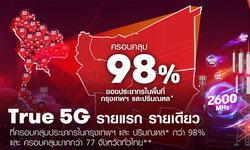 TRUE 5G รายแรก รายเดียว ที่ครอบคลุมประชากรในกรุงเทพและปริมณฑล กว่า 98%