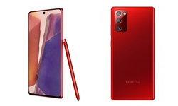 ชมสีใหม่ของSamsung Galaxy Note 20รุ่นเล็กแต่มีสีแดงจัดจ้านMystic Red