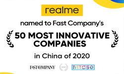 realme ได้รับการเสนอชื่อจากนิตยสาร Fast Company ผู้นำด้านสื่อธุรกิจระดับโลก