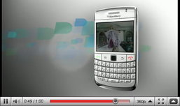 White BlackBerry Bold 9700 Teaser Video