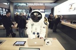 นักบินอวกาศใน Apple Store?