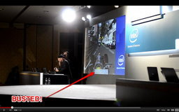 Intel หลอกต้มคนดูกลางงาน CES 2012 พร้อมภาพ