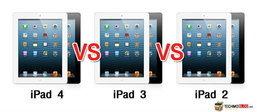 เปรียบเทียบสเปค iPad 4 กับ iPad 3 และ iPad 2 เหมือนหรือต่างกันอย่างไรบ้าง