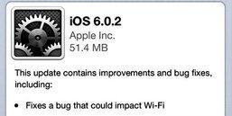 iOS 6.0.2 พร้อมอัพเดท iPhone 5 แล้ว