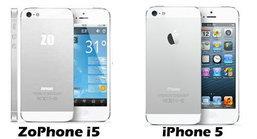 เอิ่ม ! ZoPhone i5 เหมือน iPhone 5 เกิ๊น