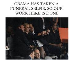 โอบาม่างานเข้า! โดนแฉถ่ายรูป Selfie กลางงานศพ