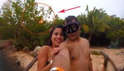 ระทึก selfie ภาพหวานฟ้าดันผ่าลงข้างหลัง(คลิป)