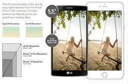 กล้ามาก!!! LG นำ iPhone 6 มาเปรียบเทียบกับ LG G4 ลงเว็บ งานนี้จะเกิดหรือดับ