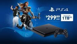 เครื่อง PS4 Slim 1 TB ลดราคาเหลือ 299 เหรียญเท่ากับตัว 500GB