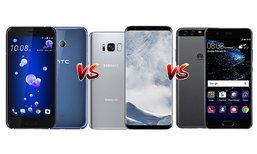 เปรียบเทียบ HTC U11, Galaxy S8+ และ Huawei P10 Plus สามสมาร์ทโฟนเรือธงรุ่นเด็ดกับกล้องระดับท็อป