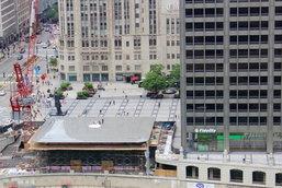 ล้ำได้อีก เผยโฉม Apple Store แห่งใหม่ในชิคาโก้มาพร้อมหลังคาทรง MacBook