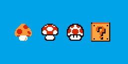 Nintendo จดทะเบียนเครื่องหมายการค้า เห็ด และบล็อก