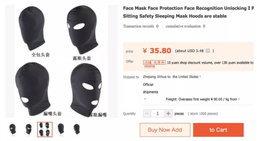 พ่อค้าจีนหัวใสเปิดขายหน้ากากคลุมหน้าป้องกันคนแฮก Face ID ขณะหลับ