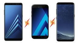 เทียบสเปคมือถือ Samsung Galaxy A8 (2018)VS Galaxy A5 (2017) VS Galaxy S8 จะเลือกตัวไหนดี