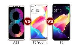 เปรียบเทียบสเปก OPPO A83, F5 Youth และ F5 ศึกสมาร์ทโฟนเซลฟี่พร้อม A.I. Beauty ล่าสุด