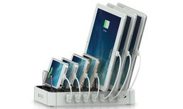พอมั้ย? แท่นชาร์ตสำหรับชาร์ต Smartphone และ Tablet พร้อมกัน 7 เครื่อง