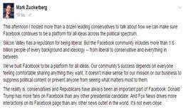 Mark Zuckerberg ย้ำจุดยืน Facebook เปิดกว้างทางการเมือง