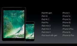 ลาก่อน iPad 2-3, iPhone 4S, iPad mini รุ่นแรก ไม่ได้อัพเกรดเป็น iOS 10