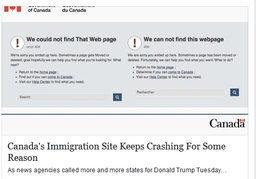 เว็บไซต์ตรวจคนเข้าเมืองแคนาดาล่ม คาดชาวอเมริกันเข้าดูข้อมูล เตรียมย้ายประเทศ