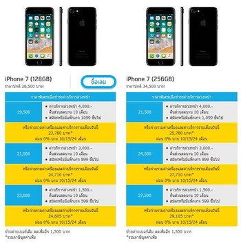 ราคา iPhone 7 จาก dtac