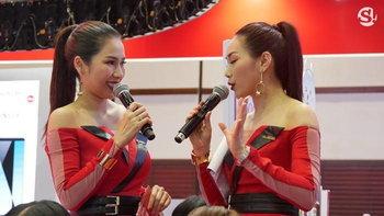 พริตตี้ในงาน Thailand Mobile Expo 2018
