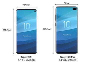 ภาพเรนเดอร์ Galaxy S10