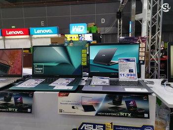 บรรยากาศบูธขาย Notebook ในงาน Thailand Mobile Expo 2019