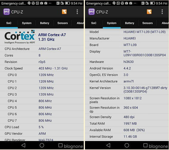 CPU-Z Screen 2