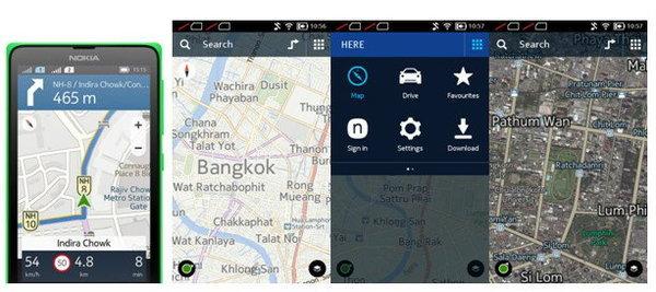 แผนที่ HERE ของ Nokia X Dual SIM