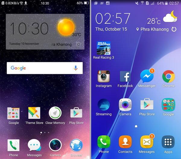 OPPO Mirror 5 Lite กับ Sumsung Galaxy J2