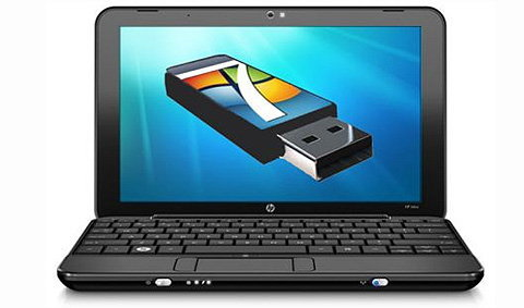 อัพเกรด Windows 7 ด้วยไดรฟ์ยูเอสบี