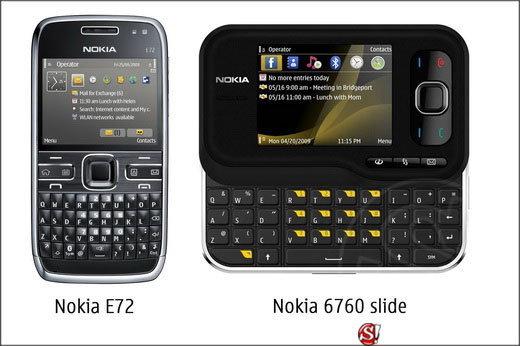 โนเกียเปิดตัว Nokia E72 and Nokia 6760 slide
