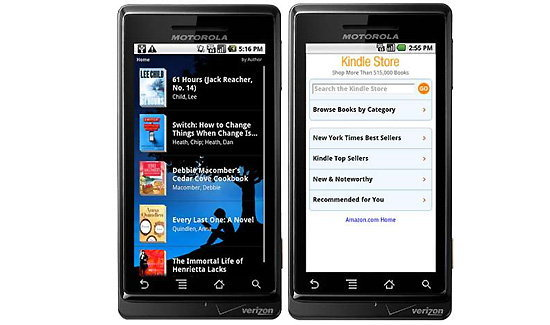 Kindle สำหรับมือถือ Android มาแล้ว