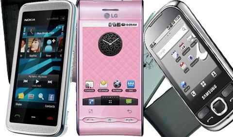 ศึก 3 เส้า : Samsung Galaxy 5, Nokia 5530, LG GT540 Optimus