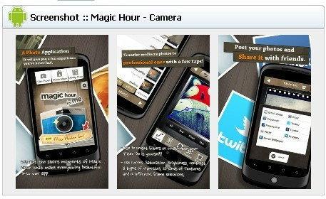 App Protography (แอพฯตกแต่งภาพ) Android :  Magic Hour - Camera