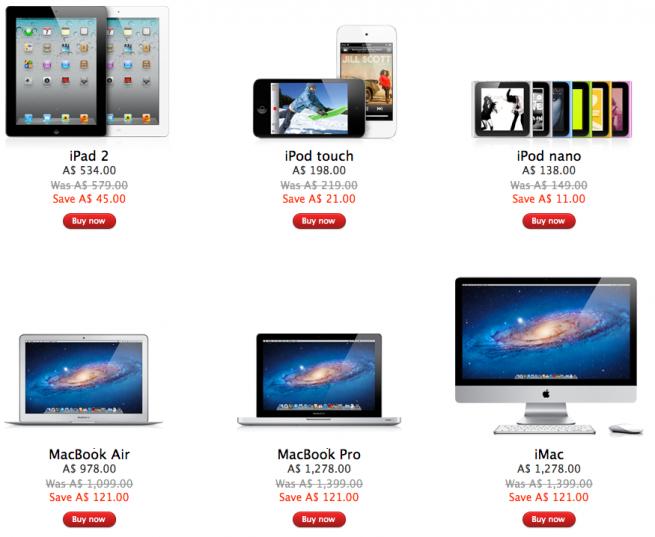 Apple Online Store เริ่มลดราคา iPad, iPod, MacBook รับ Black Friday แล้ว!